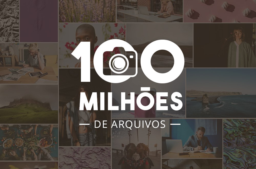 Comemorando 100 milhões de arquivos! Fotografias da tendência e ideias de projetos