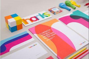 Design rebelde quebrando regras de identidade de marca com vontade