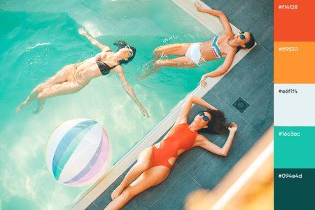 Paletas De Cores Do Verão Para Designs Vibrantes