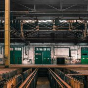 Industrial interior of a old vehicle repair station