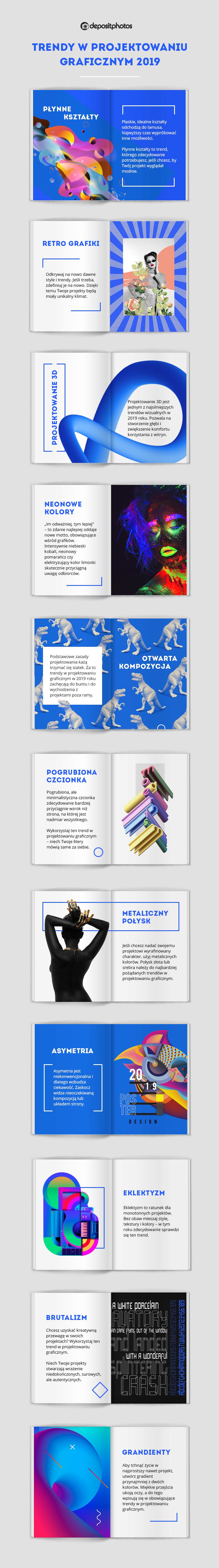 Trendy w projektowaniu graficznym w roku 2019