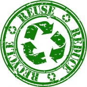 Grunge reduce, reuse and recycle rubber stamp, vector illustration © Depositphotos