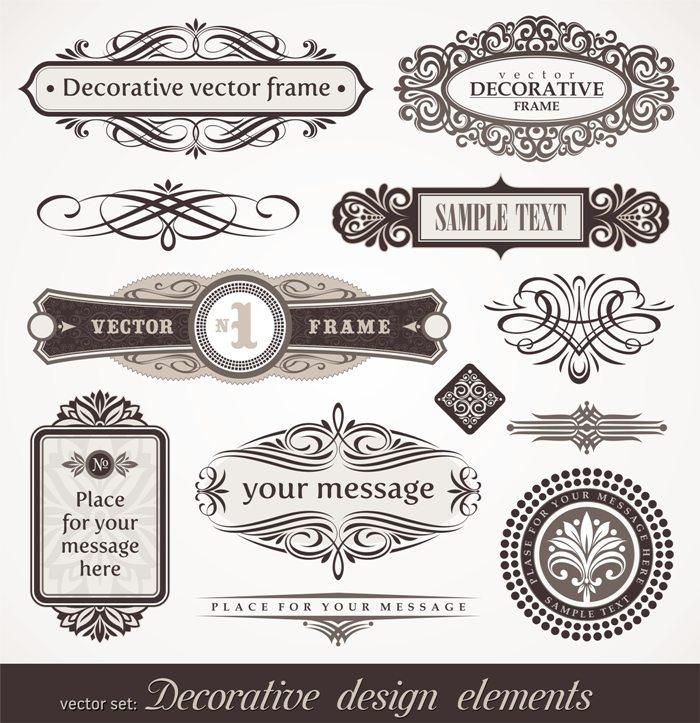Decorative vector design elements & page decor © Depositphotos