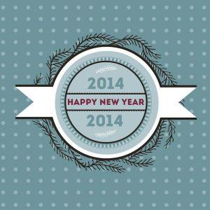 Бесплатное векторное изображение недели: Happy New Year 2014