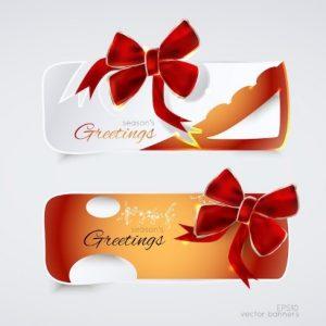 Бесплатное векторное изображение: Greeting banners
