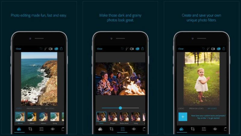 how to use adobe photoshop express editing apps for iphone and android