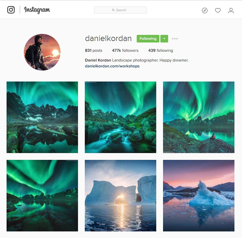danielkordan inspiring instagram accounts for photographers