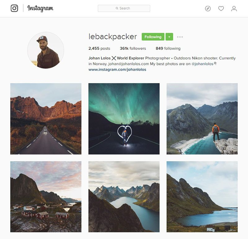lebackpacker inspiring instagram accounts for photographers