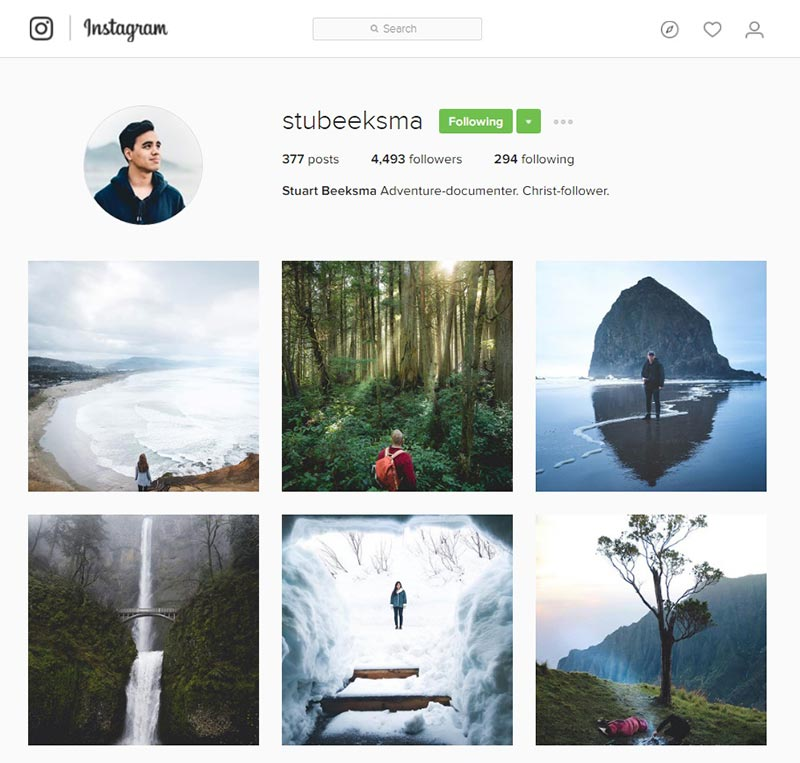 stubeeksma inspiring instagram accounts for photographers