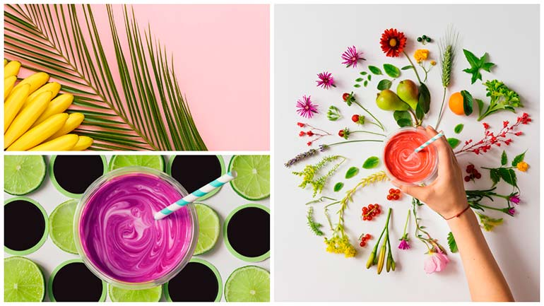 bold and bright still life visual trends 2017