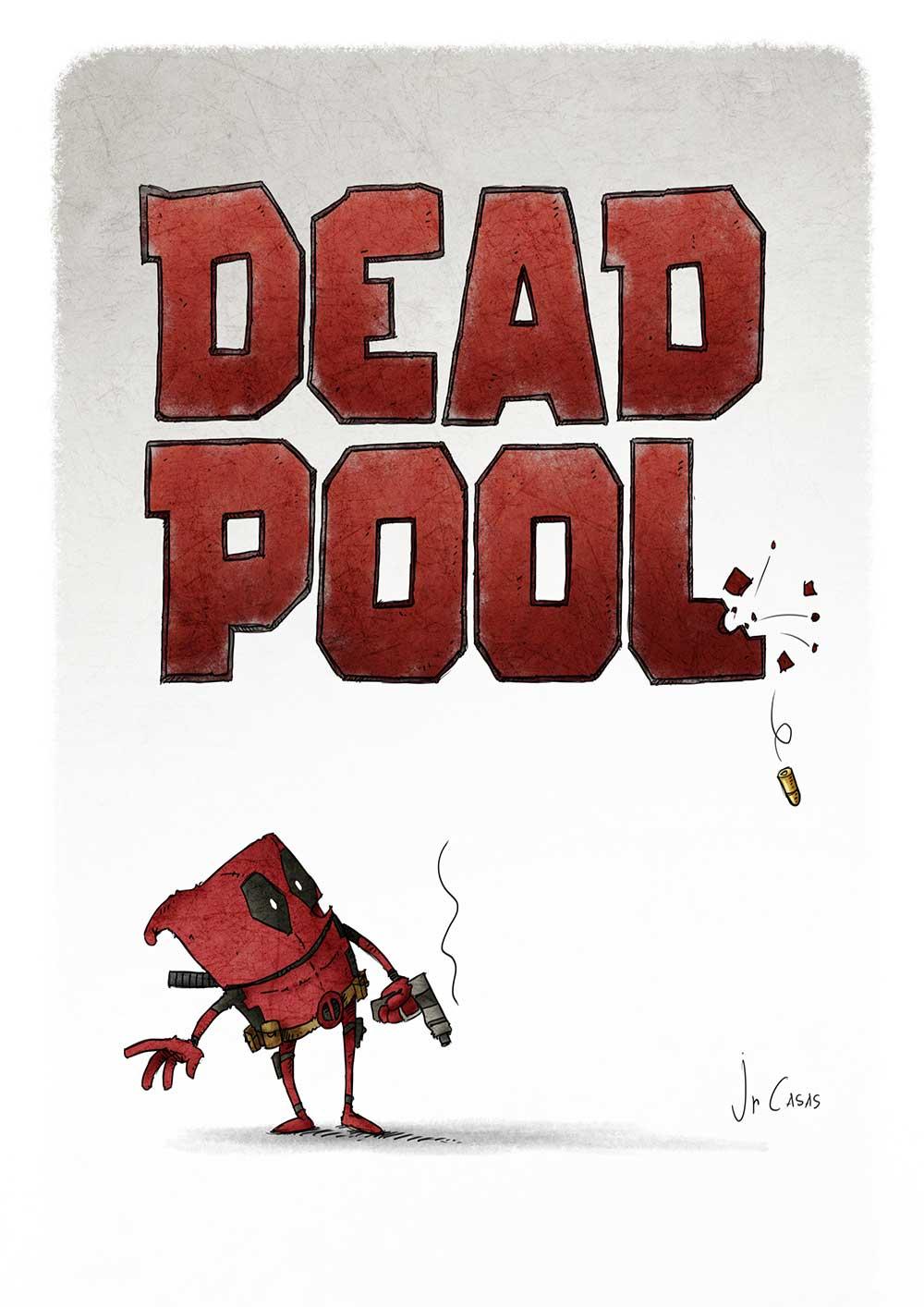 alternative movie posters JrCasaas Deadpool poster