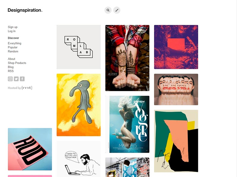 designspiration pinterest alternative