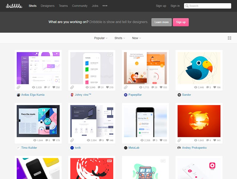 dribbble pinterest alternative