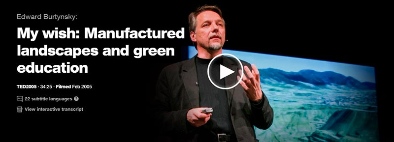 ted talks manufactured landscapes