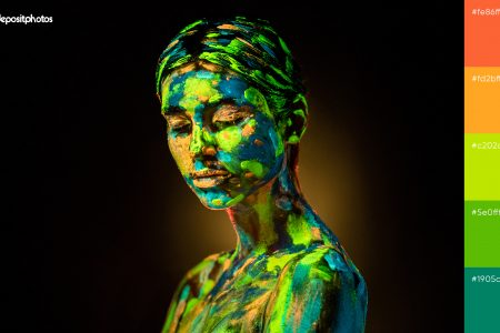 Неонові палітри кольорів для сміливого дизайну
