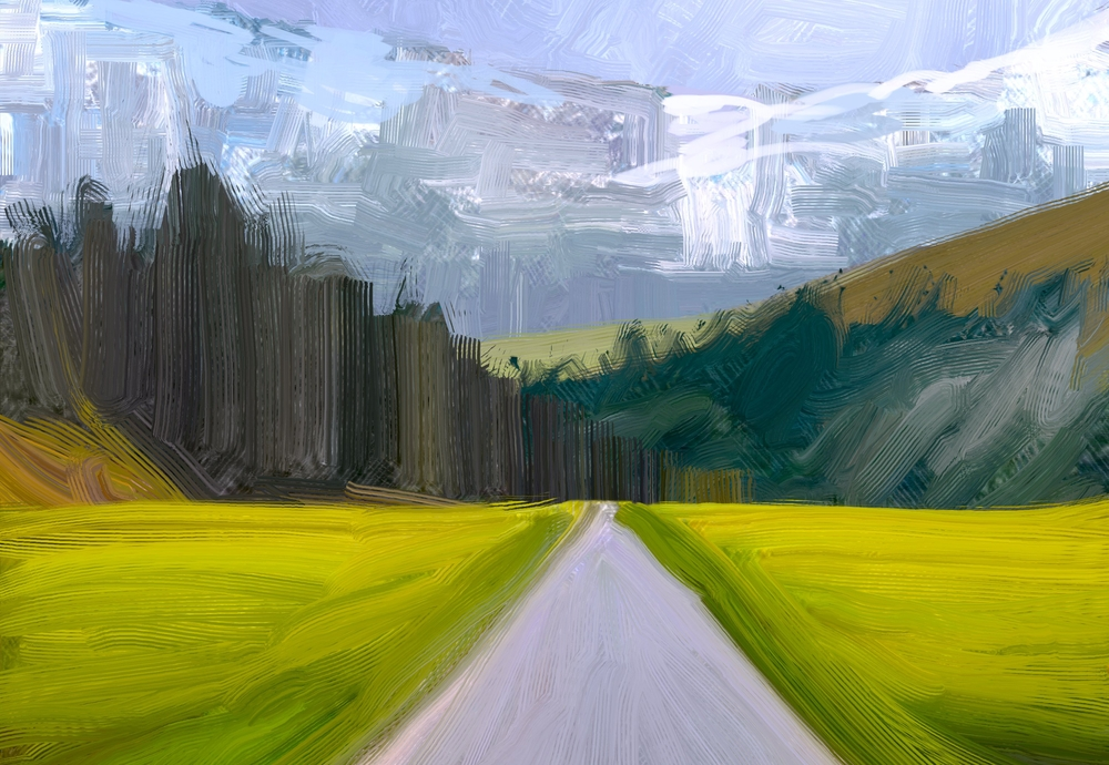 Ілюстрація дорога в гори