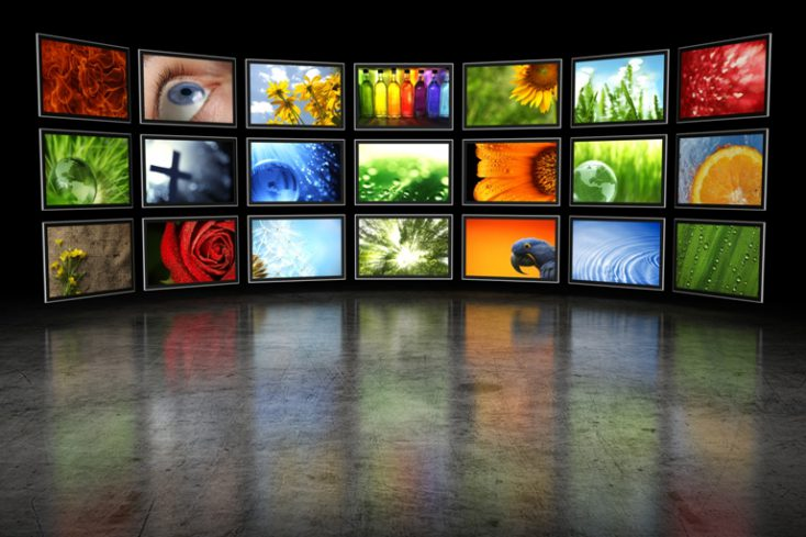 Several TVs with images © Leigh Prather