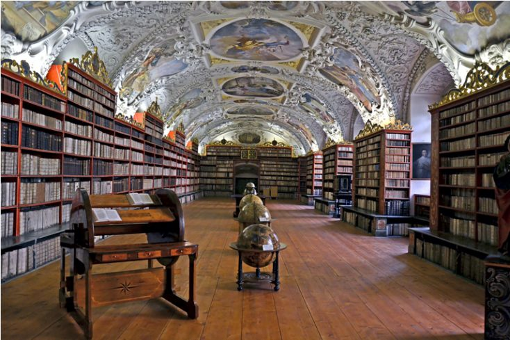 Old library in Prague