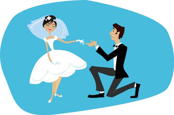 Bride and bridegroom © Depositphotos