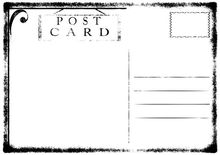 Blank old grunge postcard vector illustration © Depositphotos