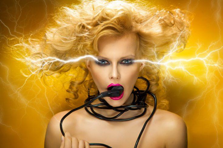Electric woman © Depositphotos