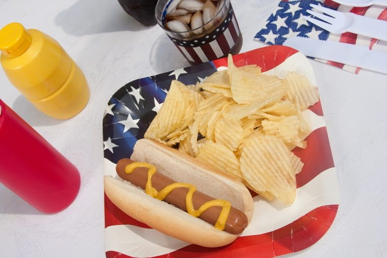 4th Of July Hotdog Meal © Depositphotos