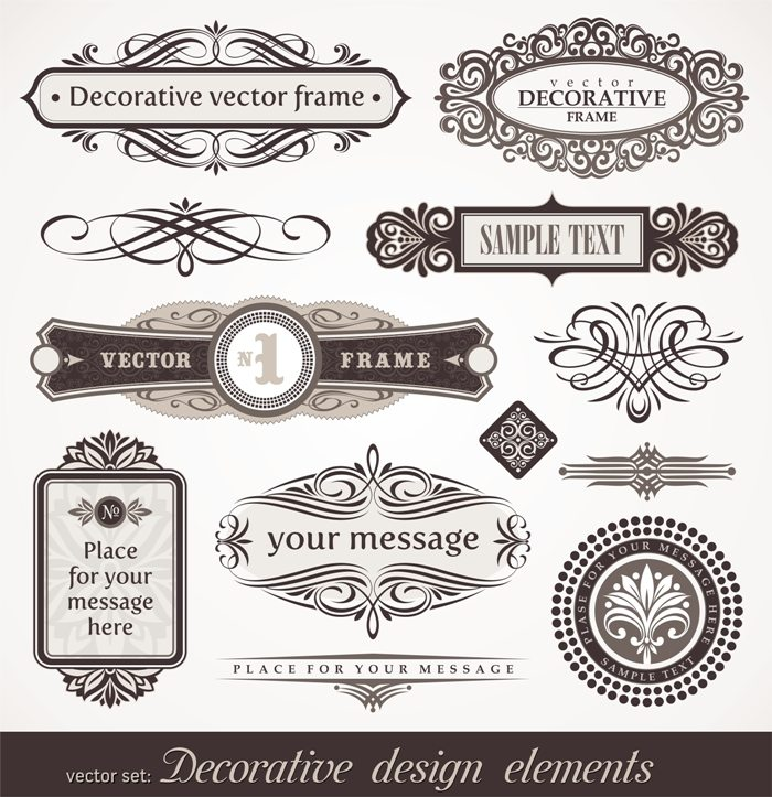 Decorative vector design elements & page decor © Depositphotos