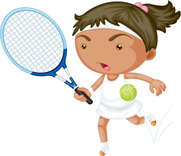 A Girl Playing Tennis © Depositphotos