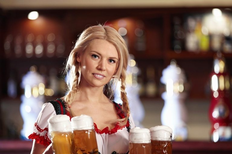 Waitress with beer | Stock Photo © Depositphotos