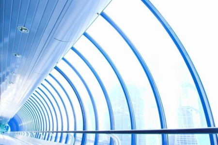 Blue glass corridor | Стоковая фотография © Denis Babenko