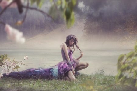 Beauty woman in fairy scenery | Stock Photo © Konrad Bąk