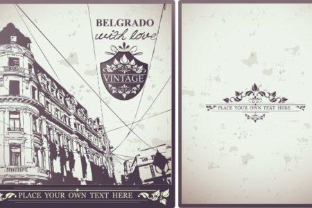 Vintage Postcard | Stock Vector © Aleksandra Marjanovic