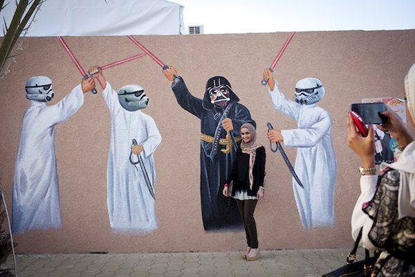 Kuwait Street Art. Darth Vader and Stormtroopers