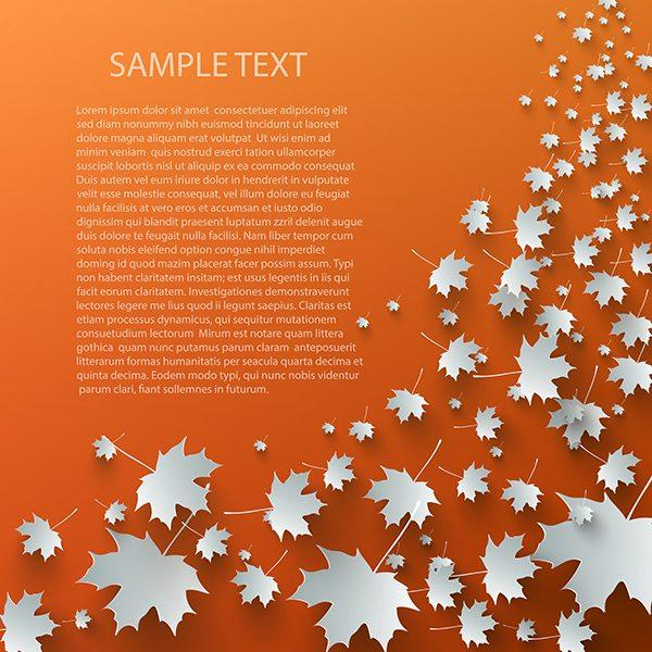 Free vector image of the week: beautiful foliage from ClassyCatStudio