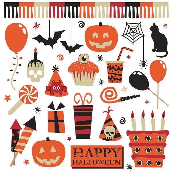 Halloween party elements illustration