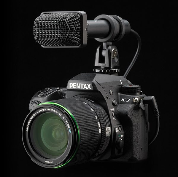 Pentax K 3 with microphone