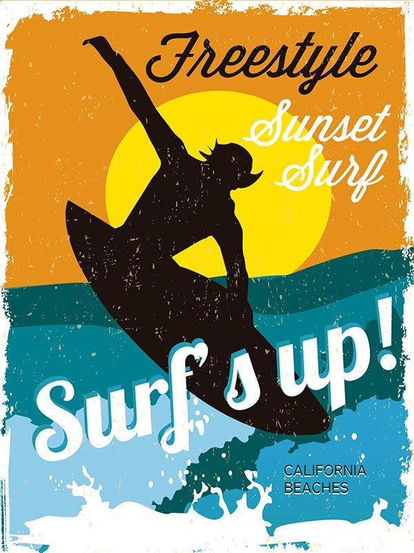 Surfing Posters classic surfing posters, vintage