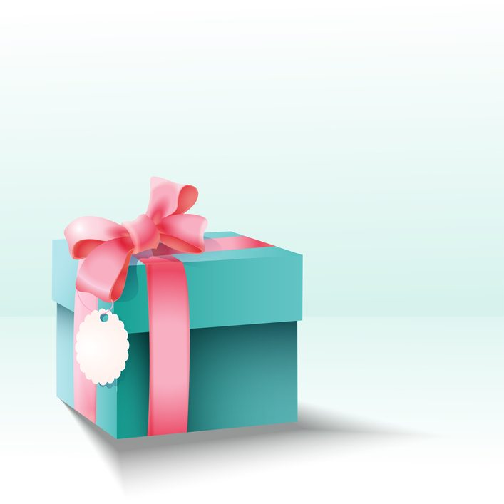 FREE VECTOR IMAGE: Vector gift box by ClassyCatStudio