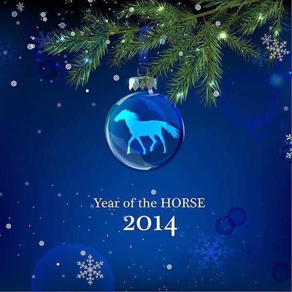 Snowflakes Horse