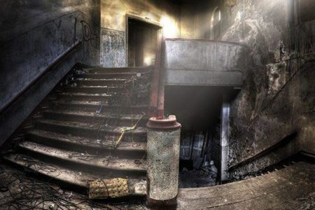 staircases in an abandoned complex