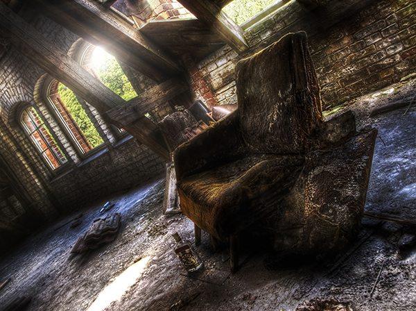 Destroyed armchair