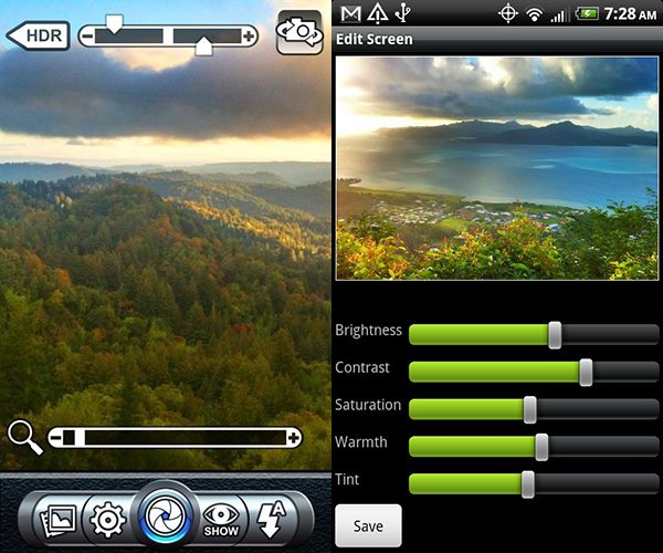Pro HDR Camera Interface