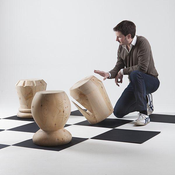 Сhess wooden sculpture