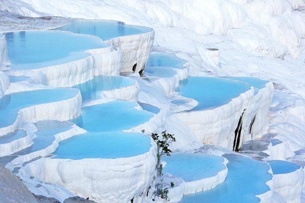 Gorgeous Turquoise Pools of Pamukkale, Turkey