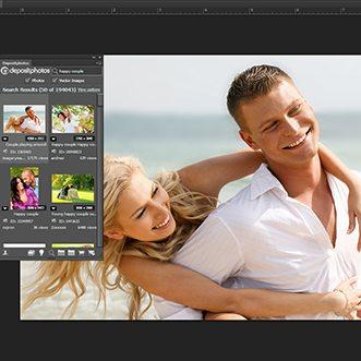 Depositphotos' Adob extension screenshot