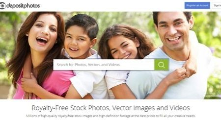 Depositphotos new front page