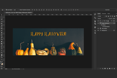 create a halloween banner tutorial
