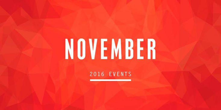 Join us for November Events!