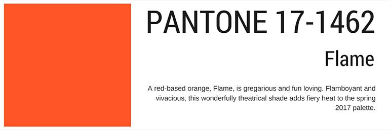 pantone colors spring 2017 flame