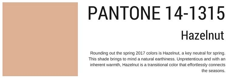 pantone colors spring 2017 hazelnut